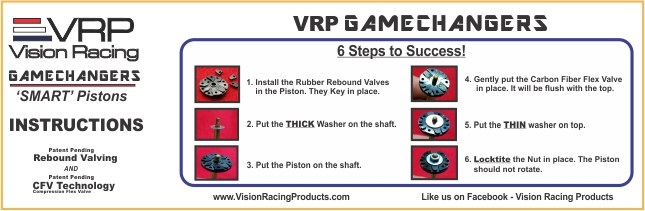 VRP 'Game Changer Pistons' 8 Hole 1 3mm